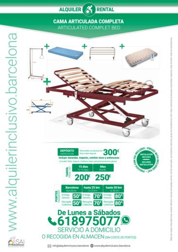 Alquilar una cama Articulada de Hospital en BarcelonaAlquilar una cama Articulada de Hospital en Barcelona